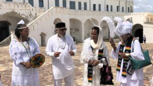 Queen Afua and Wellness Delegation Visit the Slave Dungeons in Cape Coast