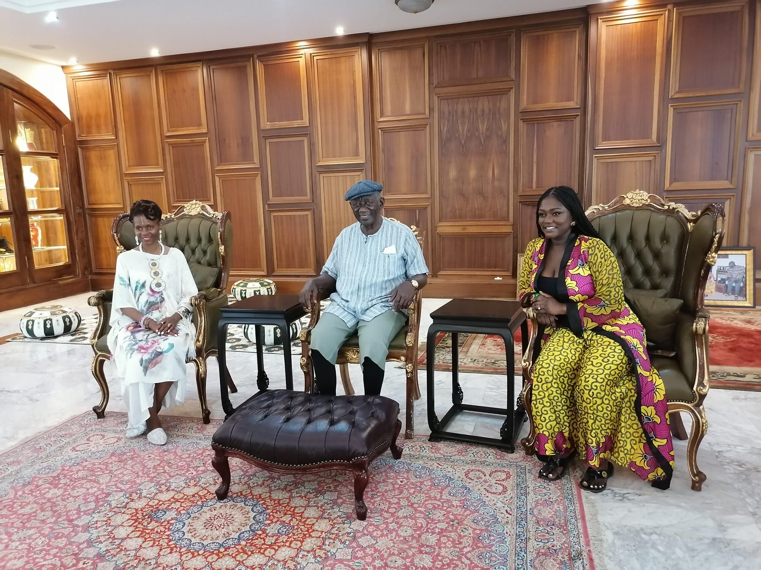Former President John Kufuor Meets Queen Afua's Wellness Delegation